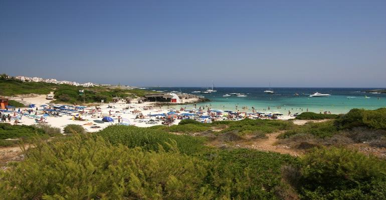 playa de binibeca menorca