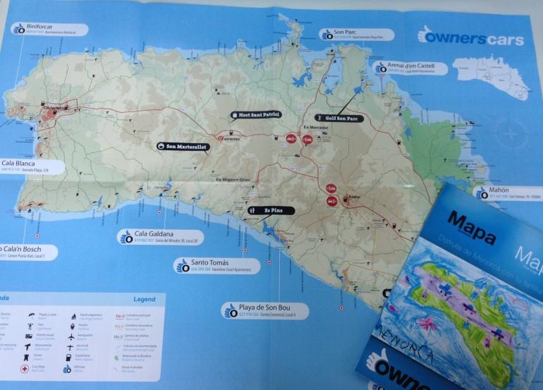 mapa menorca ownerscars 2013